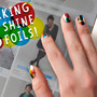 ModCloth colorful foil nail