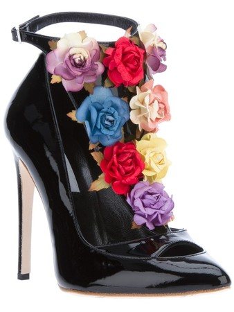 'Jane' floral embellished pump
