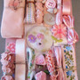 Crazy Quilt Embellishment Assortment - Pink Light