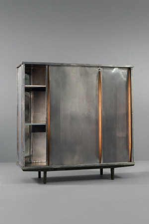 Wardrobe with Polished Aluminium Doors, ca 1946