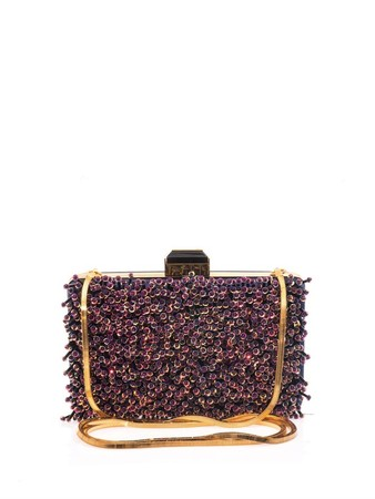 Sea Breeze embellished clutch