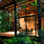 Angle Open Space Private Garden in Mxico Accommodating Four Wooden Houses