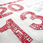 DIY Embroidery Kit 2013 Tea Towel Calendar
