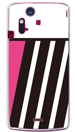 PINK & BLACK ピンク (クリア) design by ROTM / for Xperia acro IS11S/au