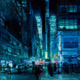 CITYSCAPES / New York Night in Blue