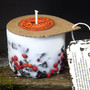Genuine Icelandic Soy Wax Candle - Rowan berries and 2000 years old Lava stones