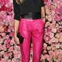 Pink leather trousers