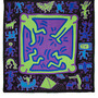 for Keith Haring cotton mix scarf