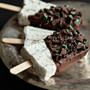 mint chocolate cheesecake popsicles