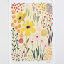 Yellow Floral Dishtowel