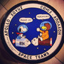 """SPACE TEAMS"" patch with NASA's snoopy and the Russia Soyuz Bear"