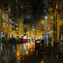 CITYSCAPES /  Post Street Downpour