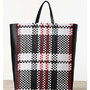 Bag - SIDE CAVAS IN LAMBSKIN WOVEN CHECK