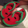 Watermelon slipper thongs