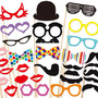 Photobooth Props - Photo Booth Props 30 Piece Set - Party Photo Props