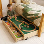 Under the bed Trundle Play Table