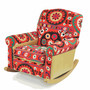 Alma Suzani Upholstered Rocking Chair 38&quot; x 38&quot; x 36&quot;
