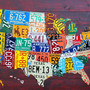 USA License Plate Maps