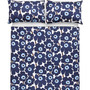 Pieni Unikko Blue Queen Sheet Set
