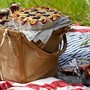 Jute/Bent Wood Picnic Basket