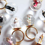 snow globe ring