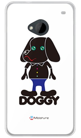 Doggy Pure ホワイト (ソフトTPUクリア) design by Moisture / for HTC J One HTL22/au