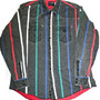Vintage Faded Black 80s Striped Wrangler Button Up Shirt Mens Size 17 1/2-36 (XL)