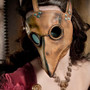 Plague Doctor's mask in brownish tan leather Classic