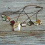 Spring Library Book Necklace 