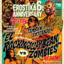 """El Rockin'Jelly Bean vs Zombies"" Offset Print Poster Glow in the dark Ver."