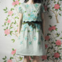 vintage 50s embroidered day dress