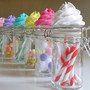 Fake Cupcake Candy Shoppe Classic Swirl Ed. Glass Jars Set 4 Original 12 Legs Concept Often Imitated, Never Duplicated
