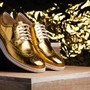 COLE HAAN LUNARGRAND LONG WINGTIPS GOLD