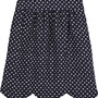 Chloe Scalloped polka dot skirt