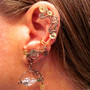 "Non Pierced ""Time Traveler"" Steampunk Wire Wrap Ear Cuff OOAK"