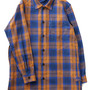 Original Plaid Long Shirt Coat (blue)