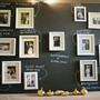 chalkboard photo display wedding
