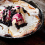 Peach Dutch Baby with Wild Blueberry Sauce