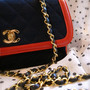 Vintage CHANEL ~ Navy x Red ~