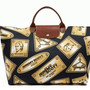 "JEREMY SCOTT × LONGCHAMP ""GOLD PLATES"" PLIAGE BAG"
