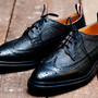 Long wing brogue shoes