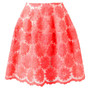 FLORAL EMBROIDERED SILK-BLEND SKIRT