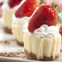 mini strawberry cheesecake