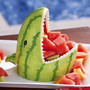 Watermelon Shark Decorative Summer Party Fruit Server