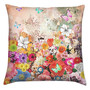 Accent Pillow, Home Decor Cushion, Floral & Butterflies Print Fabric Pillow Cover