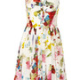 Floral-print silk crepe de chine dress