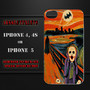 SCREAM BATMAN and JOKER case for Iphone 4, Iphone 4s or Iphone 5