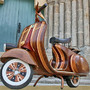 wooden vespa by Carlos Alberto