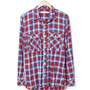 WORKER SHIRT - COTTON INDIGO CHECK