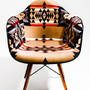 Eames Arm Shell Chair with Pendleton Fabric (MADE BY SEVEN -REUSE-)